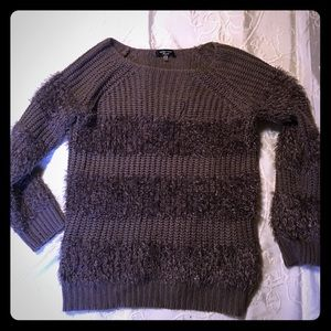 Super soft plum colored warm and fuzzy sweater.